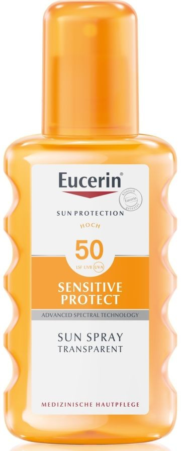 Eucerin Sun Sensitive Protect Színtelen napozó spray FF50