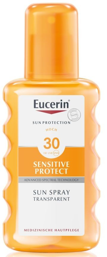 Eucerin Sun Sensitive Protect Színtelen napozó spray FF30
