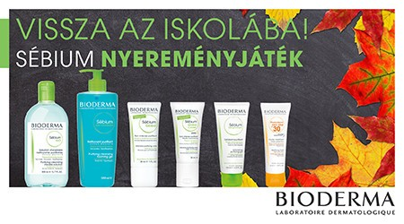 Vissza az iskolába! Bioderma Sébium nyereményjáték